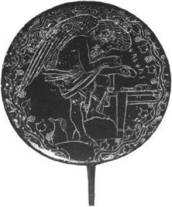 Зеркало с изображением Калхаса. IV в. до н. э.