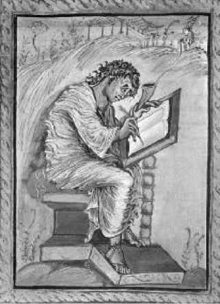 Евангелист Матфей. Евангелие Эбо. IX в.