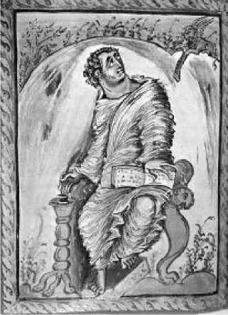 Евангелист Марк. Евангелие Эбо. IX в.