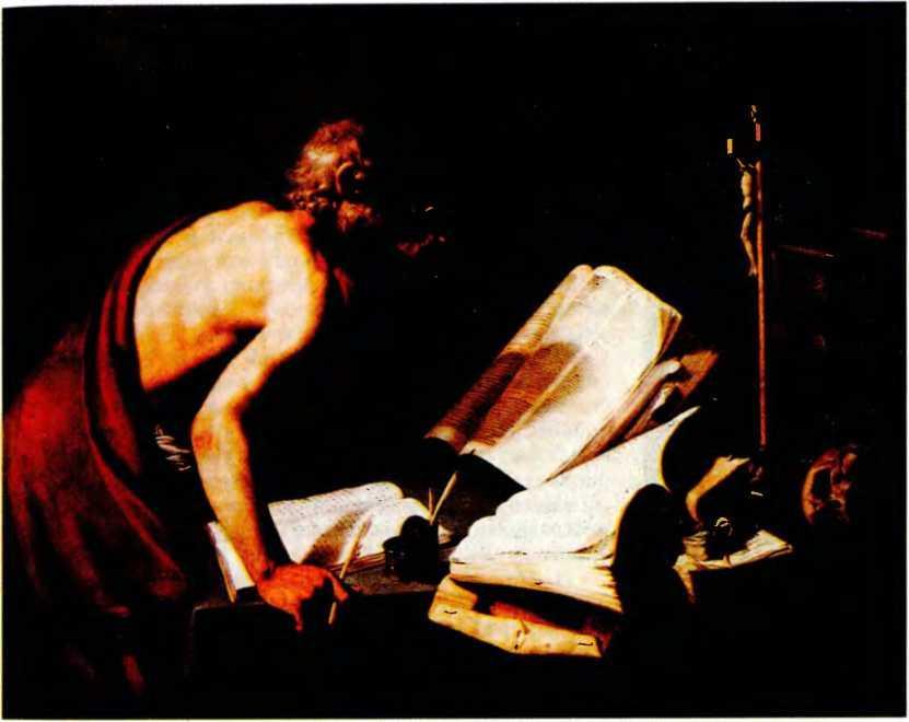 Св. Иероним переводит Священное писание (Библию). Картина неизвестного художника.