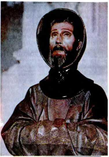 Педро де Мена. Святой Франциск. Испания Толедо. Типичный образ средневекового монаха-аскета.