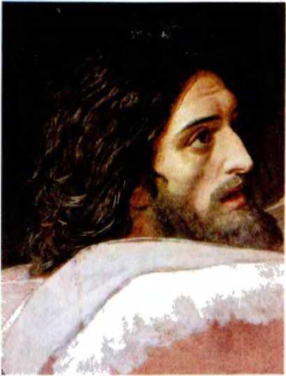 А. Иванов. Иоанн-креститель. Предтеча, предсказавший Христа, крестивший его, суровый обличитель пороков. Художник ярко показал основную черту его характера страстность натуры в прекрасном одухотворенном лице.