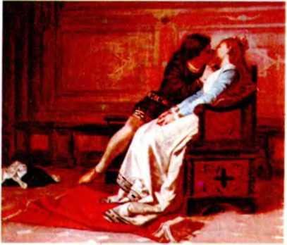Амос Кассиоли. Франческа да Римини и Паоло после чтения рыцарского романа о Ланчелоте.