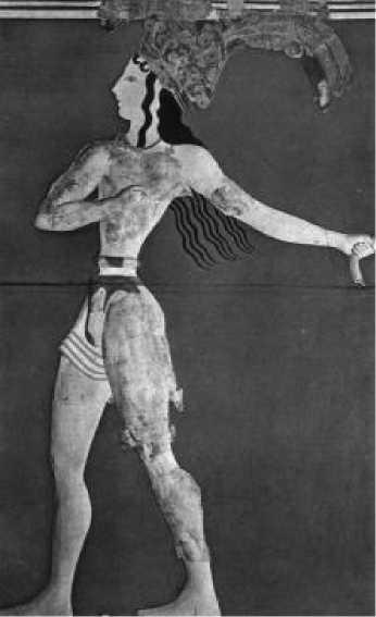 Царь-жрец. Фреска из дворца в Кноссе. 1-я половина XV в. до н. э.