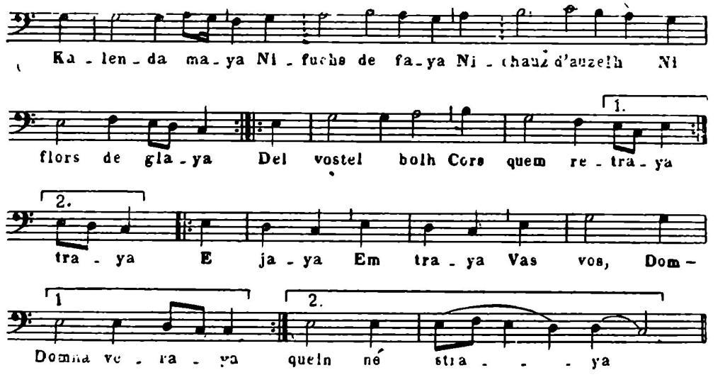 № 5. Образец танца-песни французская} жонглеров.