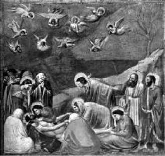 Джотто. Оплакивание Христа. Фреска капеллы дель Арена. Падуя. Начало XIV в.