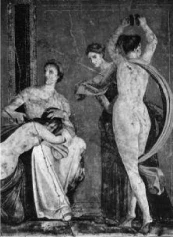 Фрагмент росписи виллы Мистерий. Помпеи. 60-е гг. до н. э.