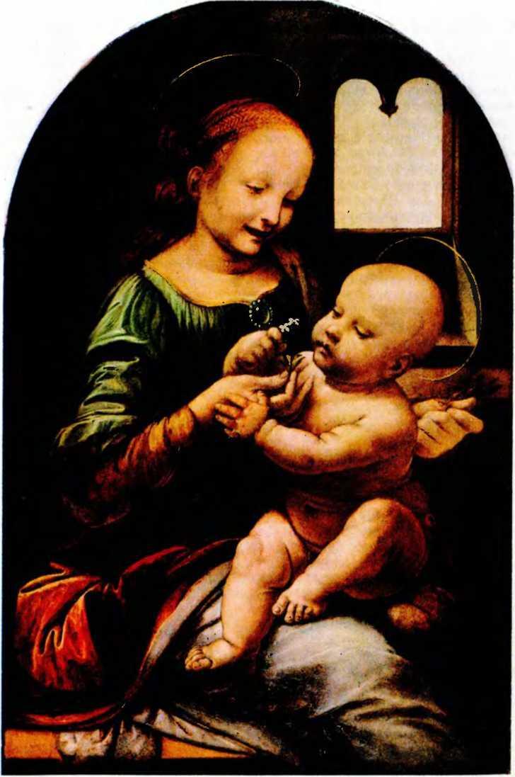 Леонардо да Винчи. Мадонна Бенуа (Мадонна с цветком).