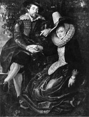 Рубенс. Автопортрет с Изабеллой Брант. 1609-1610 гг.