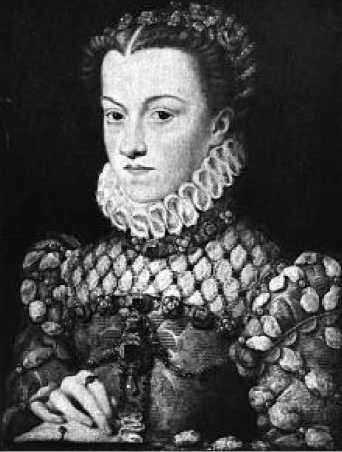 Франсуа Клуэ. Портрет Елизаветы Австрийской. Ок. 1571 г.