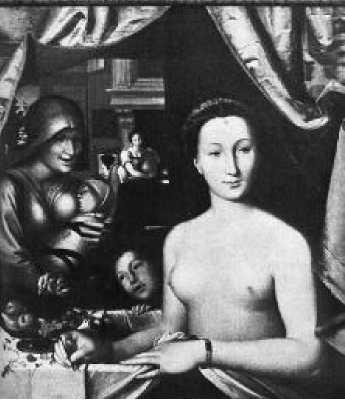 Франсуа Клуэ. Купающаяся женщина. Ок. 1571 г.