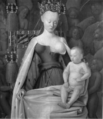 Жан Фуке. Мадонна с младенцем. Ок. 1450 г.