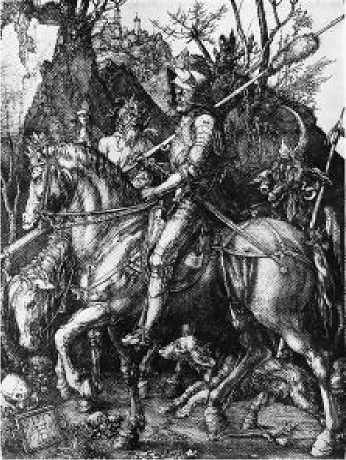 Альбрехт Дюрер. Всадник, смерть и дьявол. 1513 г.