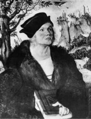 Лукас Кранах. Портрет Иоганна Куспиниана. 1502-1503 гг.