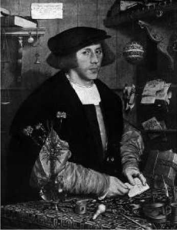 Ганс Гольбейн Младший. Портрет Георга Гисце. 1532 г.