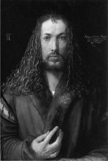 Альбрехт Дюрер. Автопортрет. 1500 г.