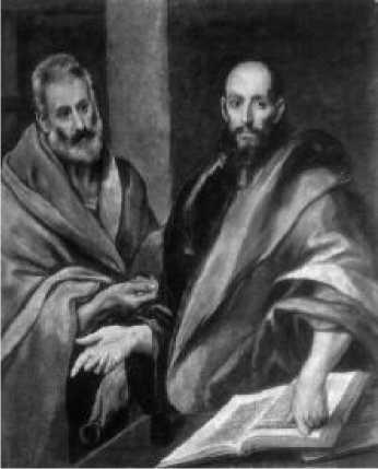Эль Греко. Апостолы Петр и Павел. 1614 г.