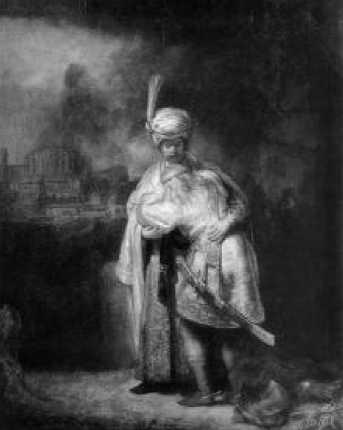 Рембрандт. Давид и Ионафан. 1642 г.