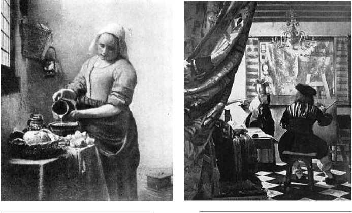 Ян Вермер Делфтский. Служанка с кувшином молока. Между 1657 и 1660 гг. Ян Вермер Делфтский. Мастерская живописца. Ок. 1665 г.
