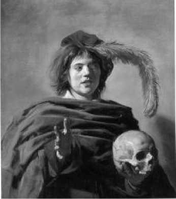 Ф. Халс. Портрет молодого человека с черепом в руках. Ок. 1626-1628 гг.