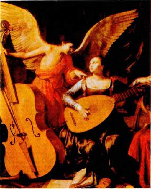 Карло Сарачини. Святая Цецилия с ангелом. 1610 г.