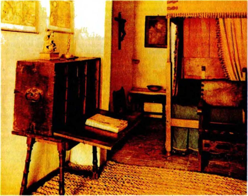 Комната в доме Сервантеса в Валльядолиде. (Музей).