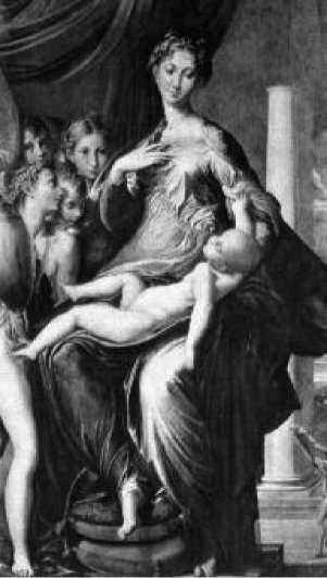Пармиджанино. Мадонна с длинной шеей. 1534-1540 гг.