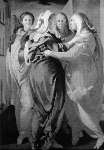 Якопо Понтормо. Встреча Марии и Елизаветы. 1528-1530 гг.
