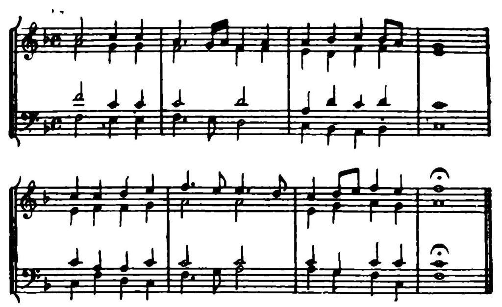 № 23. Гавот для двух флейт (XVI века).