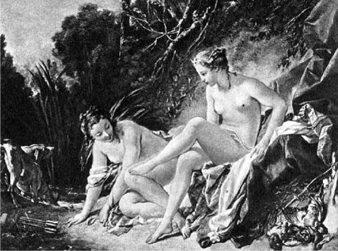 Франсуа Буше. Купание Дианы. 1742 г.