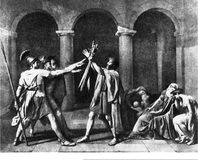 Жак Луи Давид. Клятва Горациев. 1784 г.