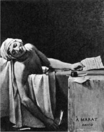 Жак Луи Давид. Смерть Марата.