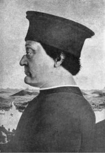 Пьеро делла Франческа. Портрет Федериго да Монтефельтро. 1465 г.