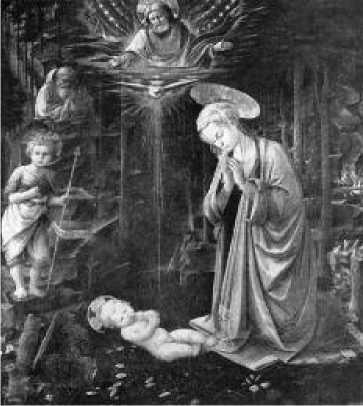 Филиппо Липпи. Поклонение младенцу. Ок. 1457 г.