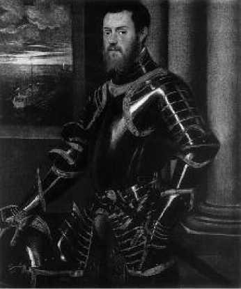 Тинторетто. Портрет воина в золоченых доспехах. Ок. 1555-1560 гг.