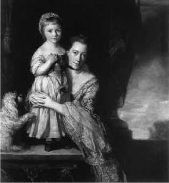 Джошуа Рейнолдс. Портрет графини Спенсер с дочерью Джорджианой. 1760-1761 гг.