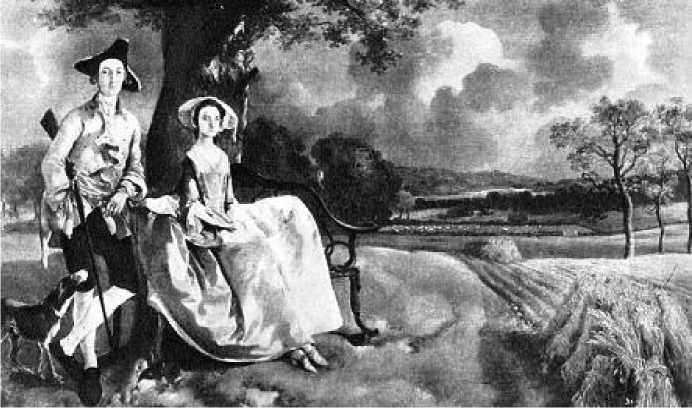 Томас Гейнсборо. Портрет мистера Эндрюса с женой. Ок. 1749 г.