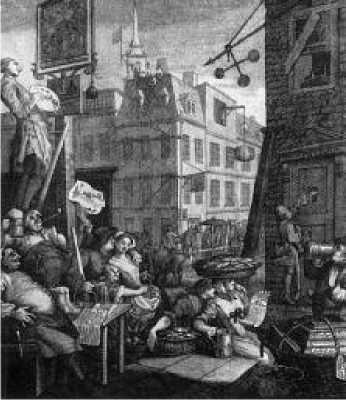 Уильям Хогарт. Улица пива. Гравюра. 1751 г.