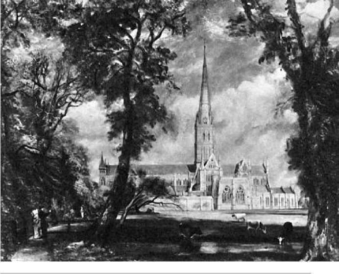 Дж. Констебл. Вид на собор в Солсбери с реки. Ок. 1827-1829 гг.