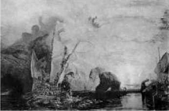 Дж. М. У. Тёрнер. Улисс, уплывающий от Полифема. 1828-1829 гг.
