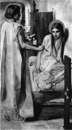 Д. Г. Россетти. Благовещение. 1850 г.
