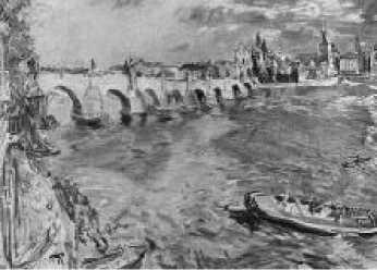 О. Кокошка. Прага, Карлов мост. 1934 г.