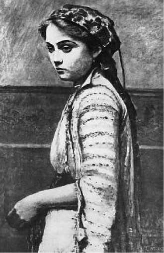 К. Коро. Эмма Добиньи в греческом костюме. 1868-1870 гг.