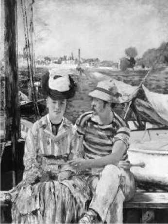 Э. Мане. В лодке. 1874 г.