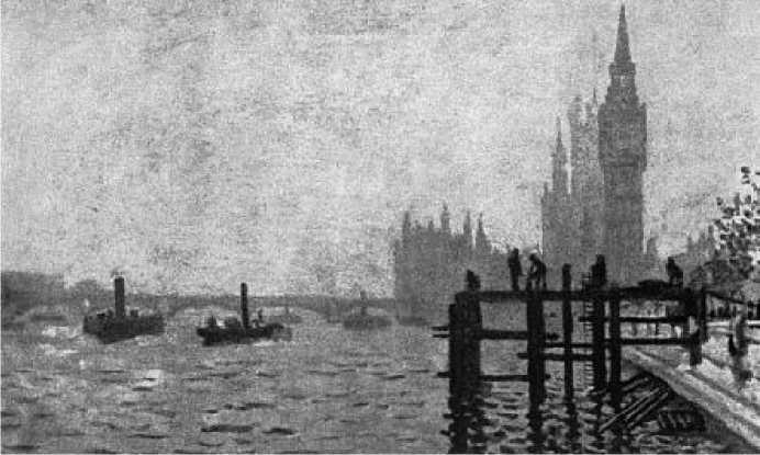 К. Моне. Вид Темзы и Парламента в Лондоне. 1871 г.