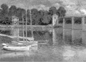 К. Моне. Лодки и мост в Аржантёе. 1874 г.