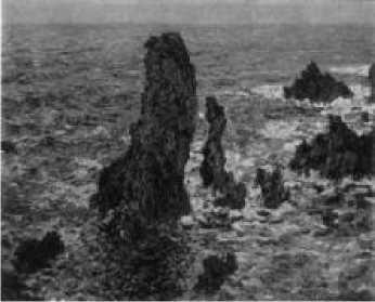 К. Моне. Скалы в Бель-Иль. 1886 г.