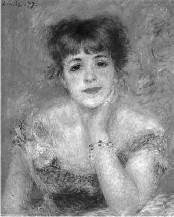 Ж. Ренуар. Портрет актрисы. Жанны Самари. 1877 г.