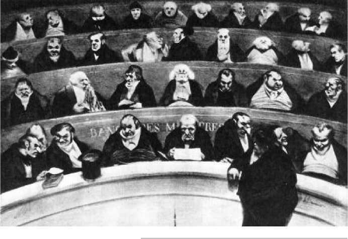 О. Домье. Законодательное чрево. 1834 г.
