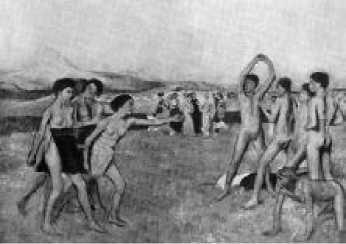 Э. Дега. Спартанские девушки вызывают на состязание юношей. 1860 г.